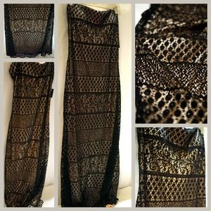 NW JS BOUtiQUE Beaded Sequin Lace Floor Maxi Dress